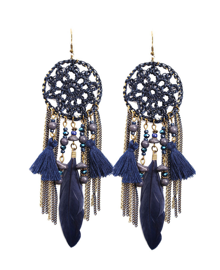 Dreamcatcher Oorbellen Navy