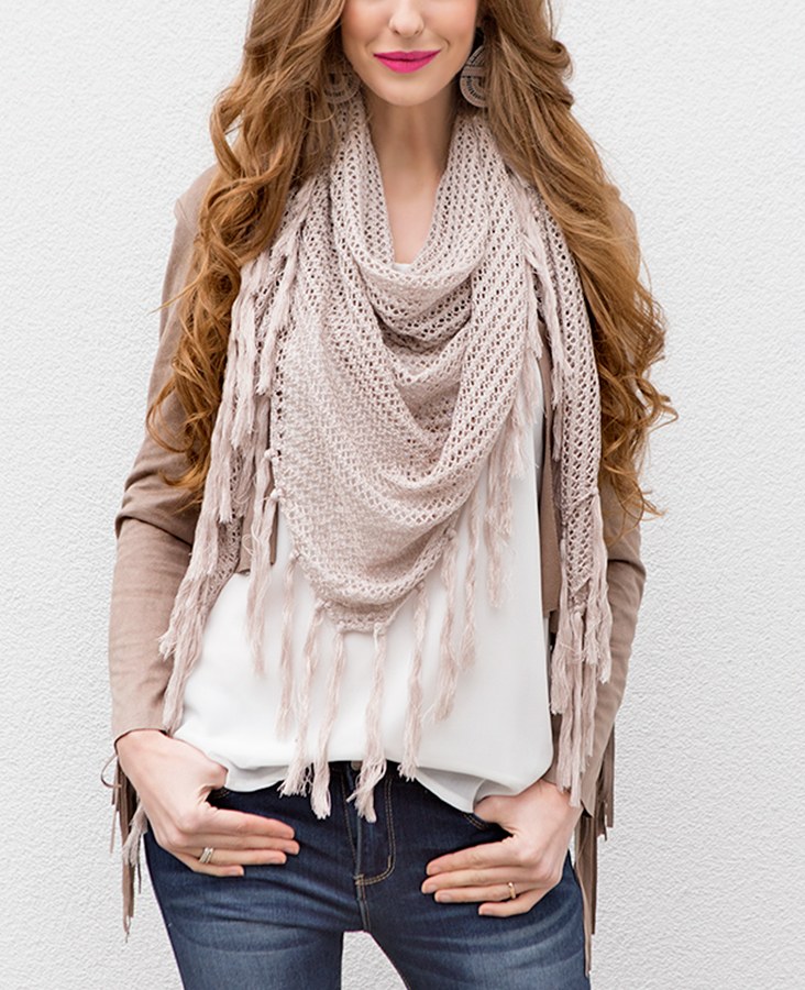 Musthave sjaal taupe